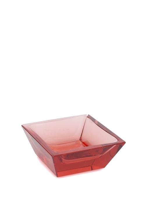 Kırmızı Dikdörtgen Formlu Kül Tablası