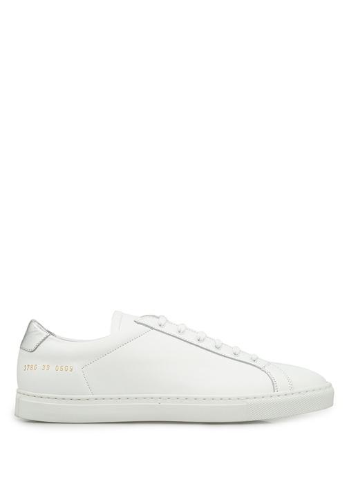 Common Projects Beyaz-Gümüş KADIN  Beyaz Gümüş Deri Kadın Sneaker 216153 Beymen