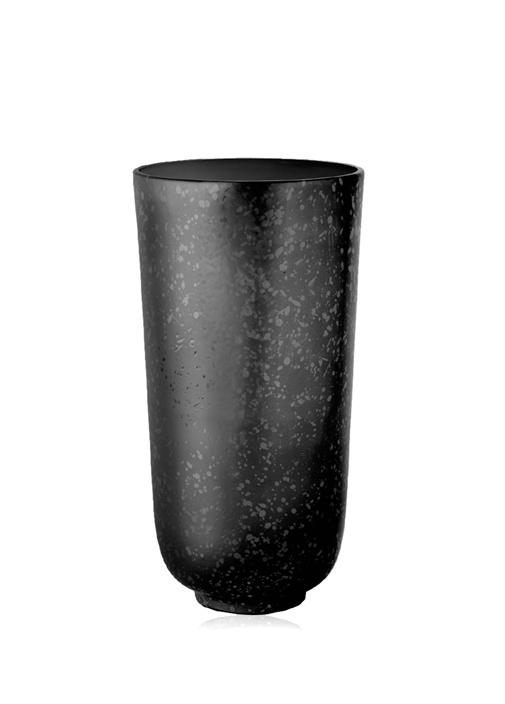 Alchimie Siyah Silindir Formlu PorselenVazo