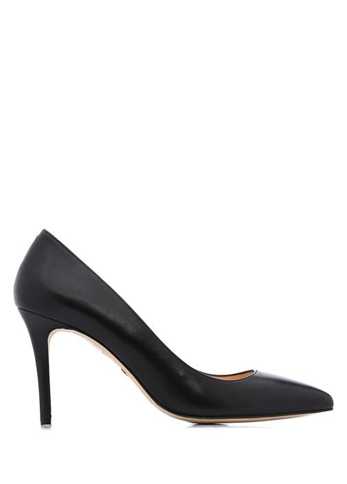 Beymen Collection Siyah KADIN  Siyah Deri Topuklu Ayakkabı 215855 Beymen