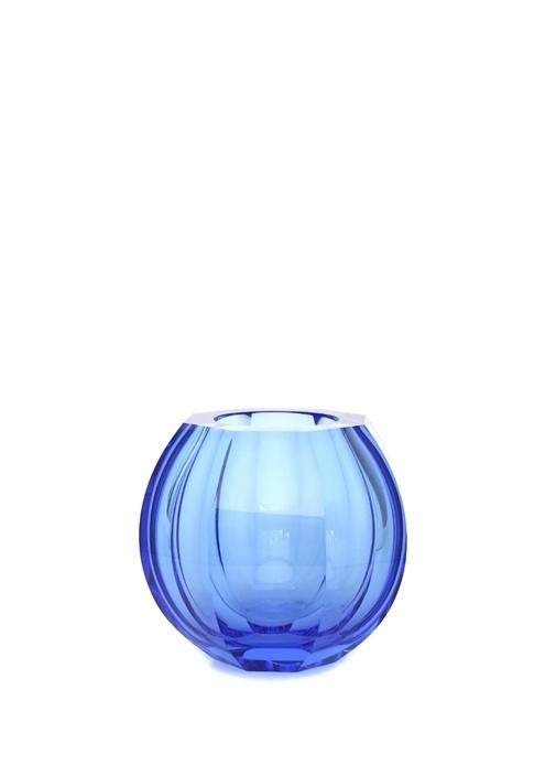 Beauty Mavi Yuvarlak Formlu Vazo
