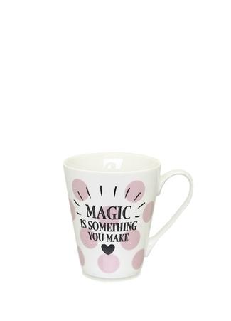 Miss Etoile Magic Is Something You Make Baskılı Porselen Kupa Pembe Ürün Resmi