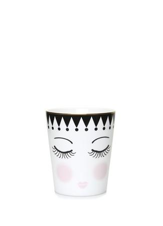 Miss Etoile Beyaz Surat Baskılı Desenli Seramik Kupa Siyah Ürün Resmi
