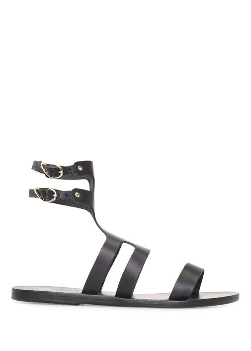 Ancient Greek Sandals Siyah KADIN  Siyah Agapi Deri Kadın Sandalet 244937 Beymen
