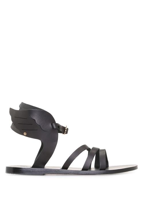 Ancient Greek Sandals Siyah KADIN  Siyah Ikaria Deri Kadın Sandalet 244945 Beymen