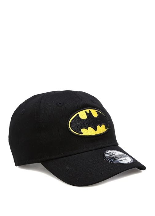 Siyah Batman Logosu İşlemeli Unisex Bebek Şapka