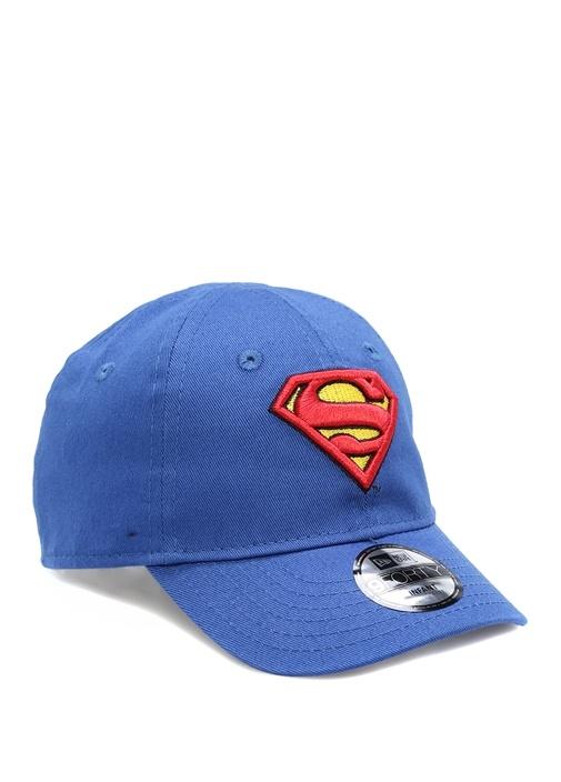 Lacivert Superman Logolu Unisex Bebek Şapka