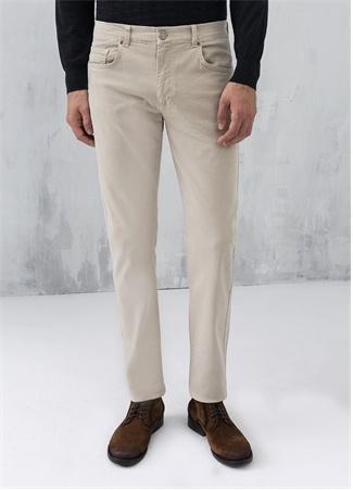 Bej 5 Cepli Koton Elastan Pantolon
