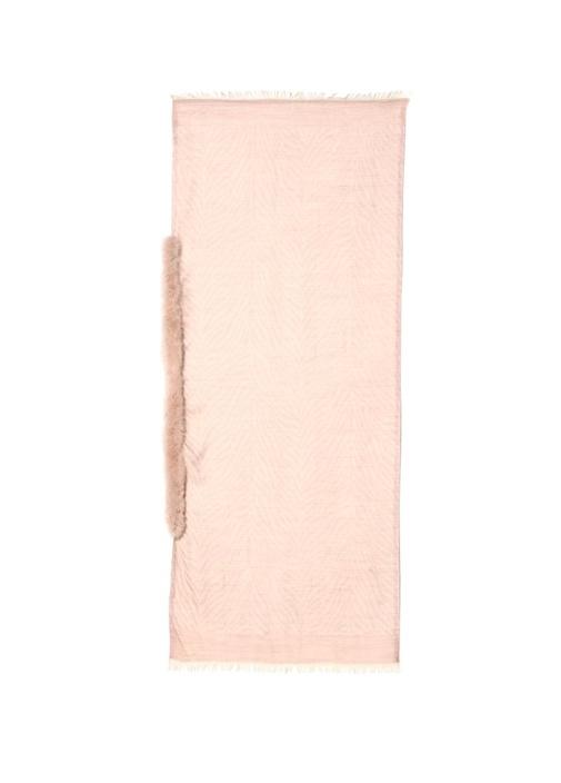 Pembe Balıksırtı 70x180 cm Kadın Yün Şal