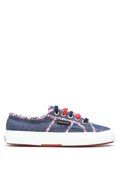 Superga Koyu Mavi KADIN  İnce Çiçek Desenli Lacivert Kadın Sneaker 251168 Beymen