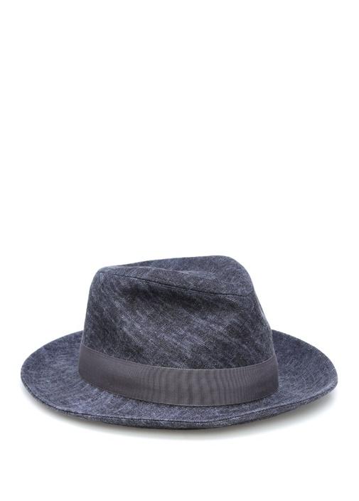 Lacivert Bantlı Erkek Şapka
