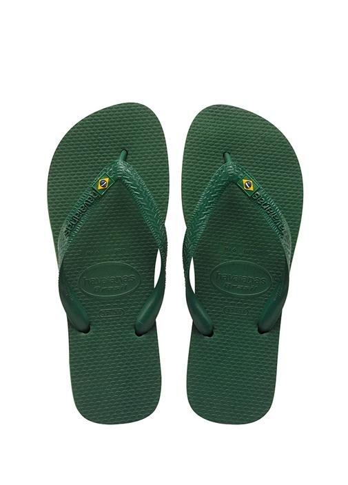 Havaianas Koyu Yeşil ERKEK  Yeşil Logolu Erkek Plaj Terliği 243799 Beymen