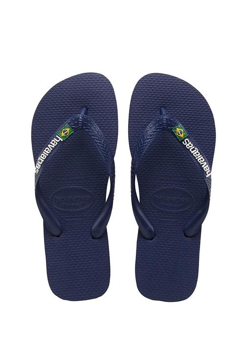 Brasil Lacivert Logolu Çocuk Plaj Terliği