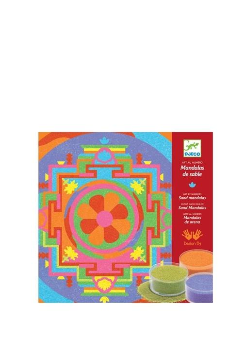 Djeco çok Renkli Kids Tibetan Mandalas çocuk Kum Boyama Oyunu 266783