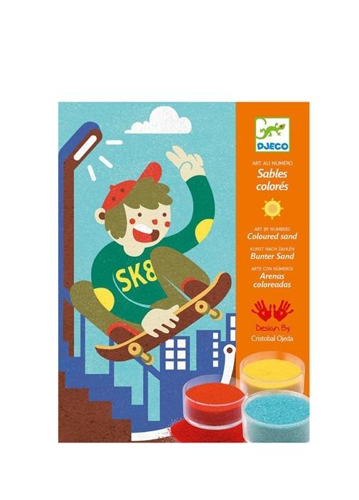 Djeco çok Renkli Kids Boardsport Fun çocuk Kum Boyama Oyunu 266795