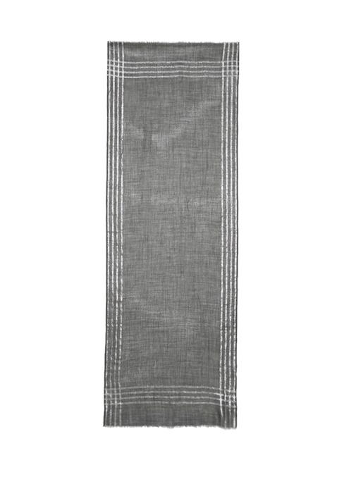 Siyah Simli 70x180 cm Kadın Yün Şal