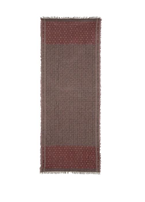 Bordo Karışık Desenli 70x180 Cm Erkek Şal