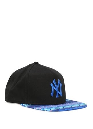 New York Siyah Zikzak Desen Detaylı Erkek Şapka 253fd32174