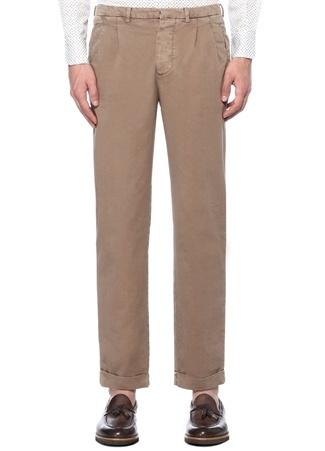 Kahverengi Normal Bel Dar Paça Pantolon