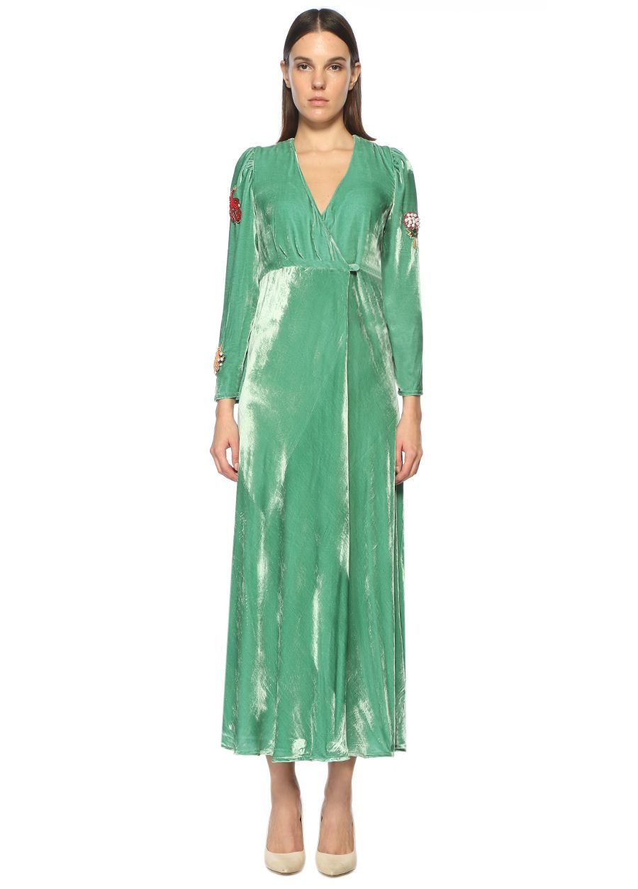 Vivetta Anvelop Yeşil Maksi Elbise