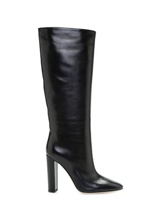 Kadın Siyah Kalın Topuklu Deri Çizme 39.5 EU