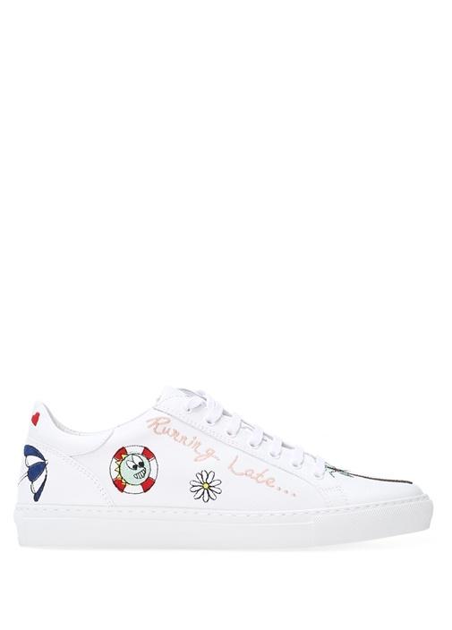 Mira Mikati Beyaz KADIN  Beyaz Deri Kadın Sneaker 252016 Beymen