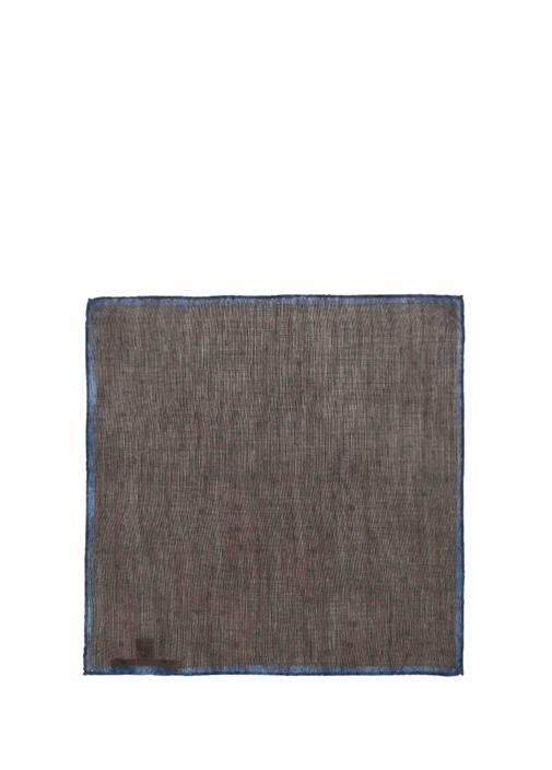Kahverengi Yün Puantiye Poşet Mendil