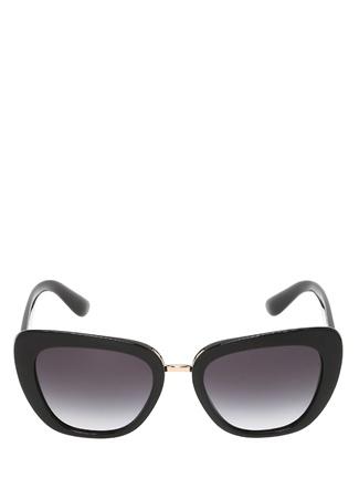 Dolce&Gabbana Kadın Siyah Cat Eye Formlu Güneş Gözlüğü 53 EU