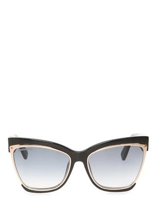 Dsquared2 Kadın Cat Eye Formlu Gold Detaylı GüneşGözlüğü Siyah 57 EU