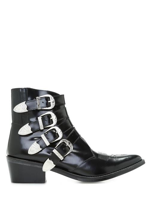 Toga Pulla Siyah KADIN  Siyah Deri Topuklu Kadın Bot 324563 Beymen