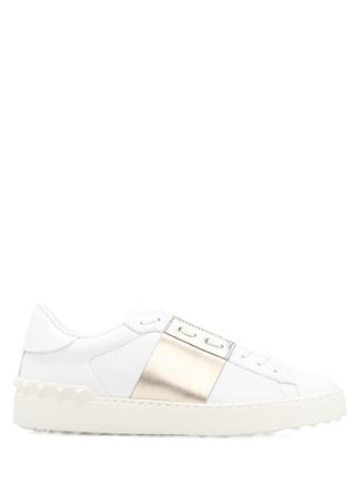 Valentino Garavani Beyaz Bronz Open Kadin Sneaker