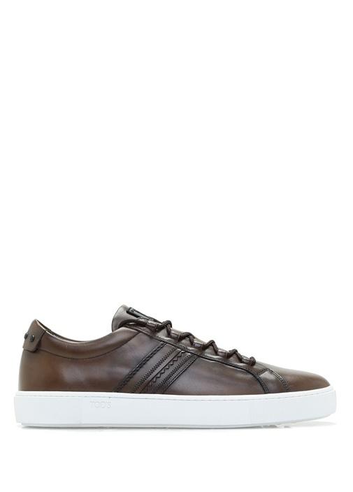 Tod's Kahverengi ERKEK  Beyaz Tabanlı Kahverengi Deri Erkek Sneaker 321500 Beymen