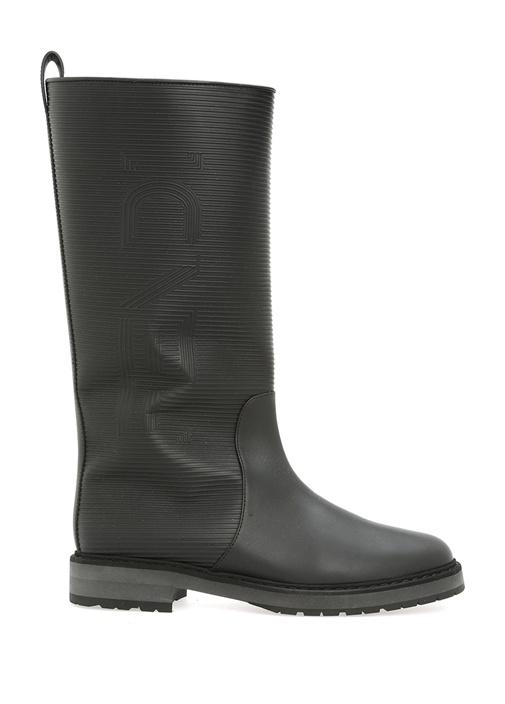 Fendı Siyah Logolu Kadın Deri Yağmur Çizmesi – 5895.0 TL