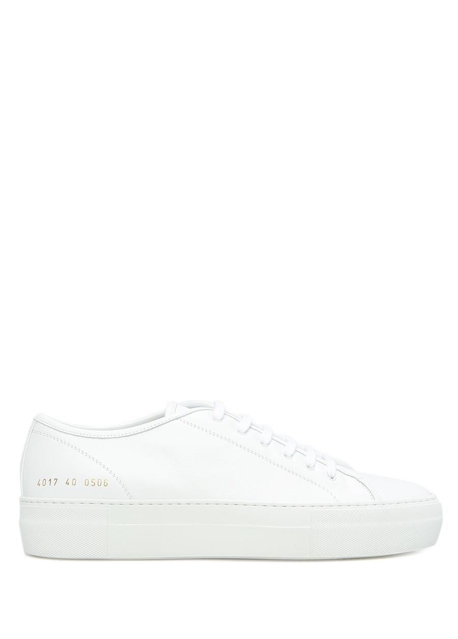 Common Projects Beyaz KADIN  Beyaz Deri Kadın Sneaker 310747 Beymen