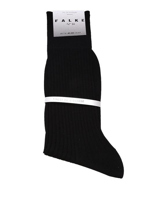 Siyah Logo Jakarlı Ribli Erkek Çorap