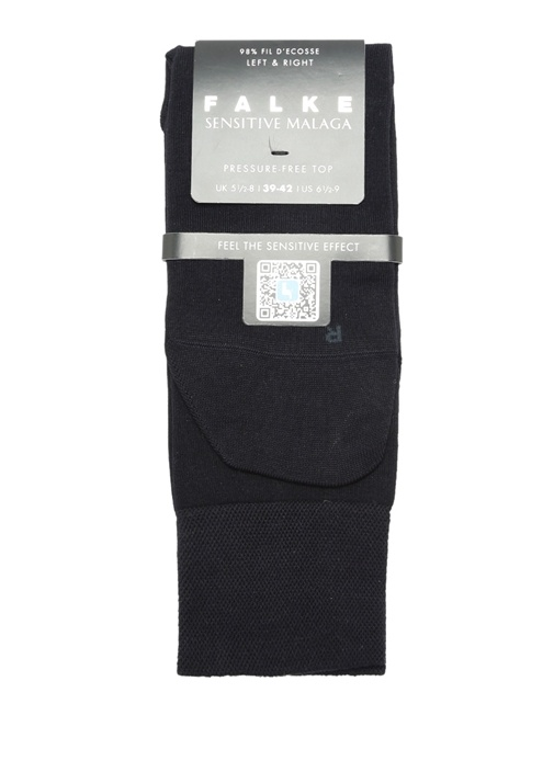 Lacivert Logo Jakarlı Erkek Çorap
