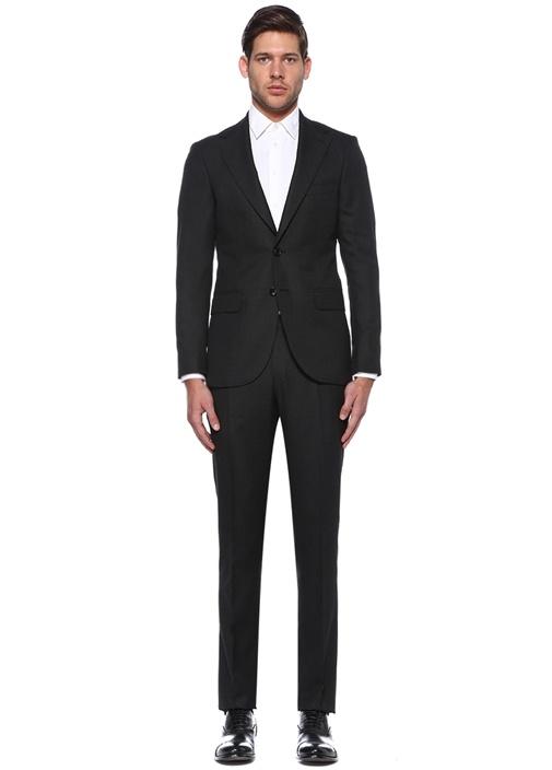 Drop 7 Siyah Kelebek Yaka Takım Elbise