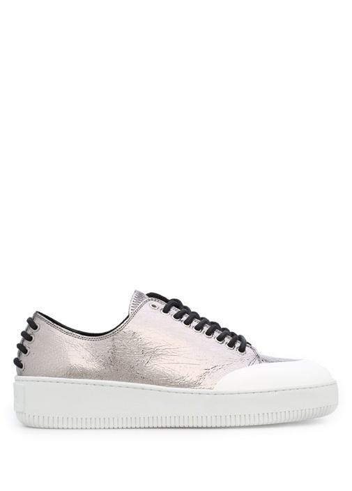 McQ Alexander McQueen Gümüş KADIN  Gümüş Deri Kadın Sneaker 327136 Beymen
