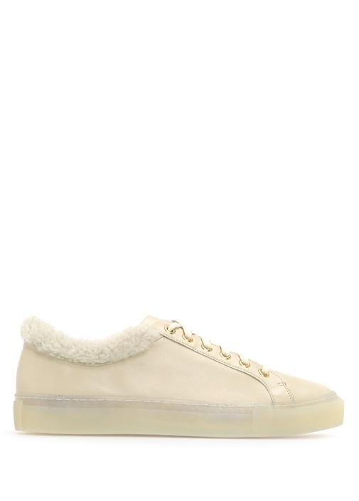 Yves Salomon Krem KADIN  Bej Deri Kadın Sneaker 341469 Beymen
