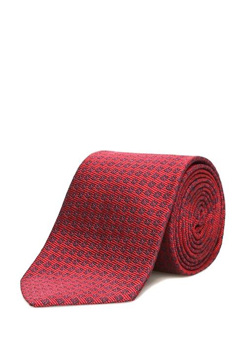 Kırmızı Mikro Desenli Kravat