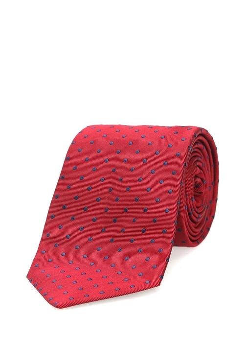 Kırmızı Puantiyeli İpek Kravat