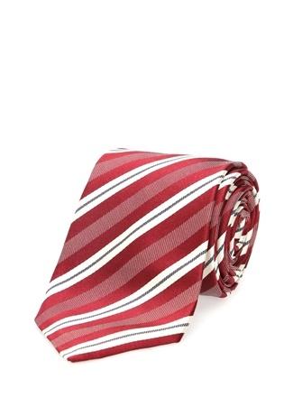 Erkek Kırmızı Çizgili İpek Kravat EU