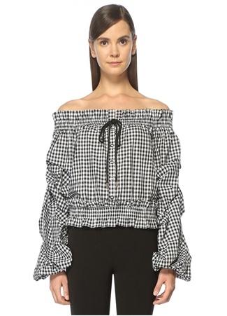 Caroline Constas Kadın Lorena Siyah Beyaz Bluz L Ürün Resmi