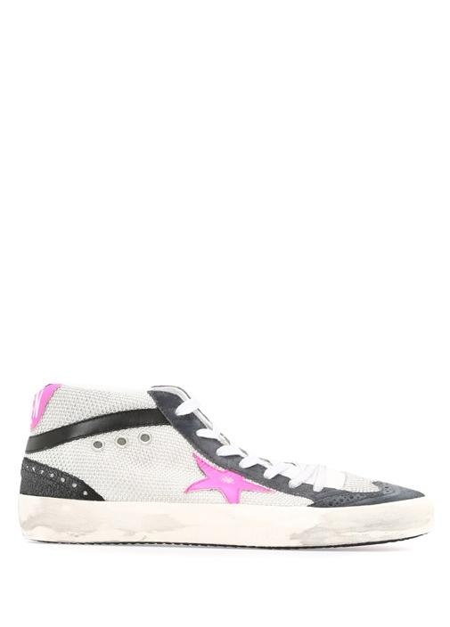Golden Goose Beyaz KADIN  Mid Star Beyaz Kadın Sneaker 338526 Beymen