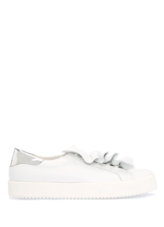 Beyaz Fırfır Detaylı Kadın Sneaker