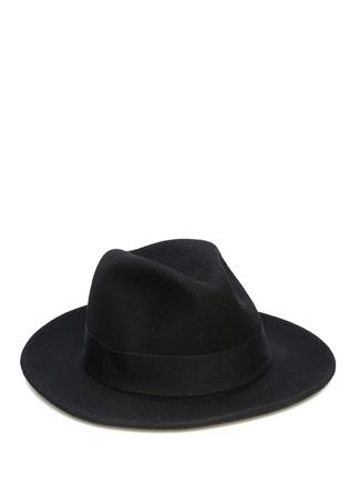 Siyah Bantlı Erkek Yün Şapka 3832085744