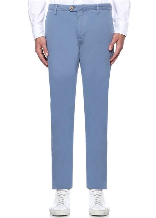 Mavi Dokulu Slim Fit Chino Pantolon