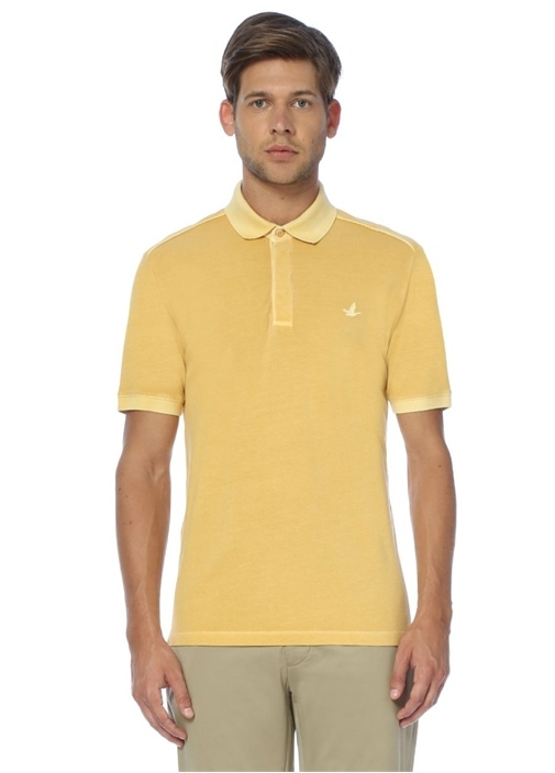 Sarı Slim Fit Polo Yaka Tshirt