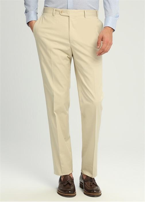 Drop 7 Bej Yün Pilesiz Pantolon