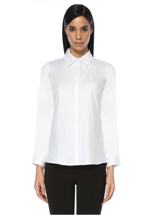 Beyaz Oxford Casual Fit Gömlek